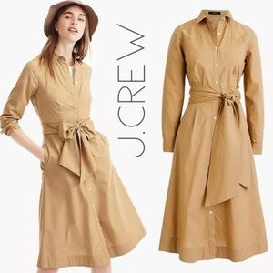 NWT J. Crew safari khaki shirtdress dress 0 XS